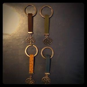 Tree of Life Cork Key Chains